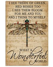 Music Sheet And I Think Dragonfly 16x24 Poster front