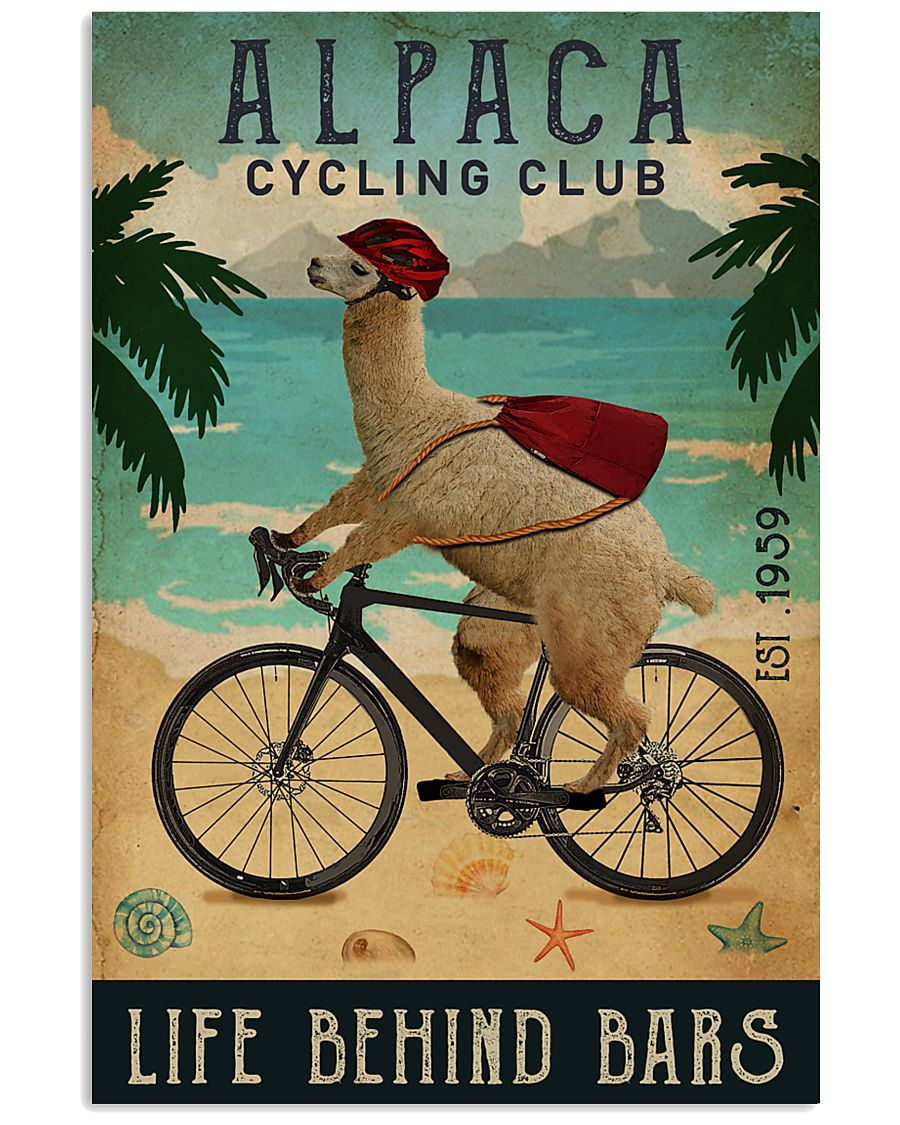 Cycling Club Alpaca 11x17 Poster