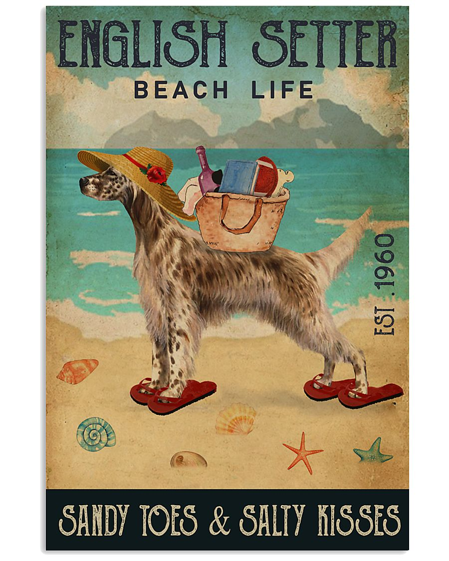 Beach Life Sandy Toes English Setter 11x17 Poster