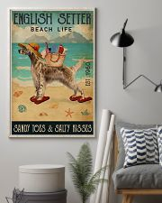 Beach Life Sandy Toes English Setter 11x17 Poster lifestyle-poster-1
