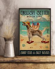 Beach Life Sandy Toes English Setter 11x17 Poster lifestyle-poster-3