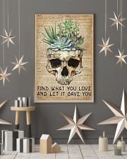 Vintage Dictionary Find You Love Skull Succulent 11x17 Poster lifestyle-holiday-poster-1