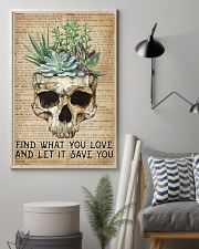 Vintage Dictionary Find You Love Skull Succulent 11x17 Poster lifestyle-poster-1