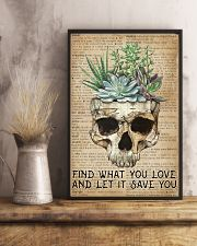 Vintage Dictionary Find You Love Skull Succulent 11x17 Poster lifestyle-poster-3