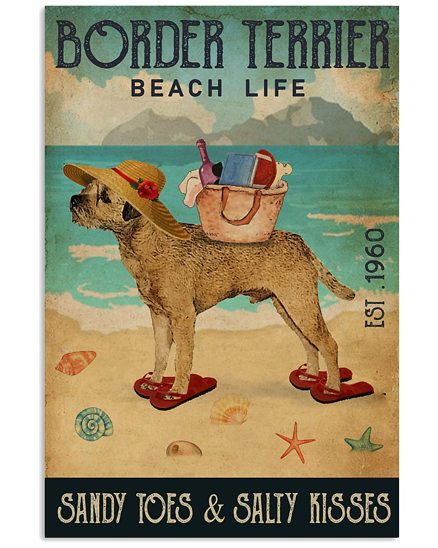 Beach Life Sandy Toes Border Terrier 11x17 Poster