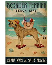 Beach Life Sandy Toes Border Terrier 11x17 Poster front