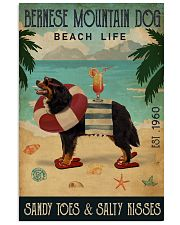 Vintage Beach Cocktail Life Bernese Mountain Dog 16x24 Poster front