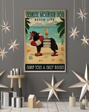 Vintage Beach Cocktail Life Bernese Mountain Dog 16x24 Poster lifestyle-holiday-poster-1