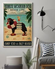 Vintage Beach Cocktail Life Bernese Mountain Dog 16x24 Poster lifestyle-poster-1