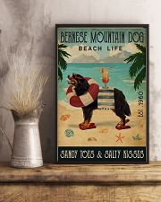 Vintage Beach Cocktail Life Bernese Mountain Dog 16x24 Poster lifestyle-poster-3