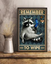Raccoon Remember To Wipe 16x24 Poster lifestyle-poster-3