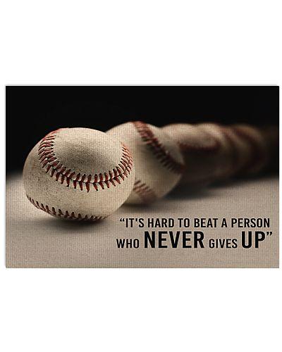 Baseball Never Give Up Baseball