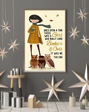 Autumn Girl Once Upon A Time Owls Reading 16x24 Poster lifestyle-holiday-poster-1