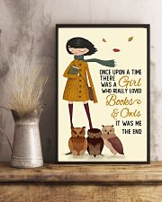 Autumn Girl Once Upon A Time Owls Reading 16x24 Poster lifestyle-poster-3
