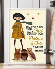 Autumn Girl Once Upon A Time Owls Reading 16x24 Poster lifestyle-poster-4