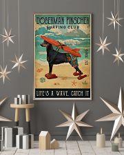 Surfing Club Doberman Pinscher  11x17 Poster lifestyle-holiday-poster-1