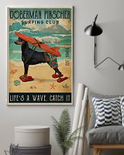 Surfing Club Doberman Pinscher  11x17 Poster lifestyle-poster-1