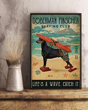 Surfing Club Doberman Pinscher  11x17 Poster lifestyle-poster-3