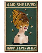 Retro Green Lived Happily Honey Bee Lady 11x17 Poster front