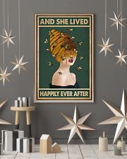 Retro Green Lived Happily Honey Bee Lady 11x17 Poster lifestyle-holiday-poster-1