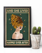 Retro Green Lived Happily Honey Bee Lady 11x17 Poster lifestyle-poster-8