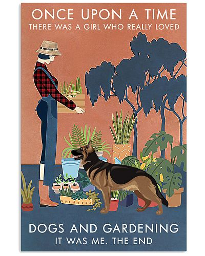 Vintage Once Upon Gardening German Shepherd