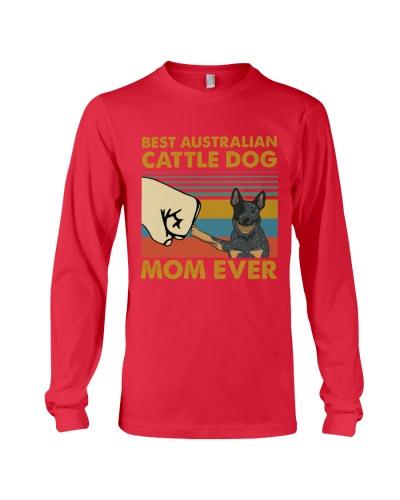Retro Blue Best Australian Cattle Mom Dad Ever
