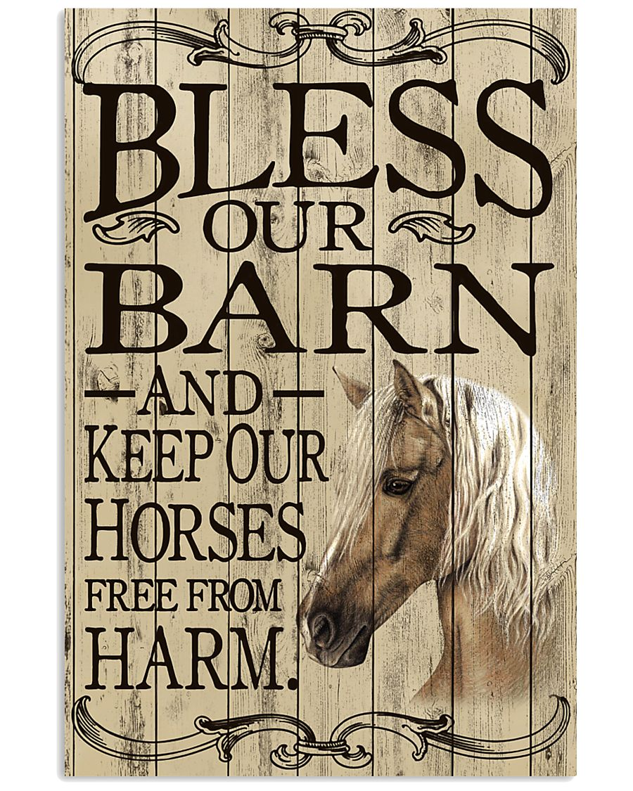 Bless Our Barn Horse 11x17 Poster