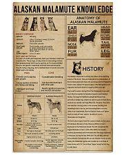 Alaskan Malamute Knowledge 11x17 Poster front
