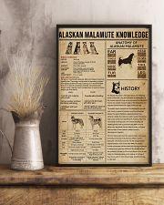 Alaskan Malamute Knowledge 11x17 Poster lifestyle-poster-3