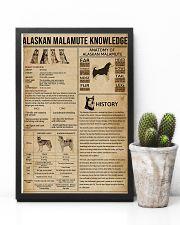 Alaskan Malamute Knowledge 11x17 Poster lifestyle-poster-8