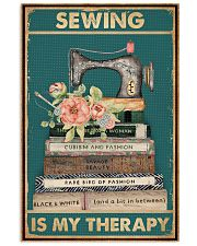 Sewing Is My Therapy 16x24 Poster front
