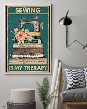 Sewing Is My Therapy 16x24 Poster lifestyle-poster-1