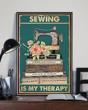 Sewing Is My Therapy 16x24 Poster lifestyle-poster-2