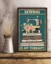 Sewing Is My Therapy 16x24 Poster lifestyle-poster-3