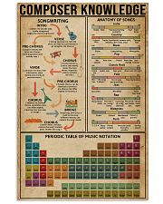 Composer Knowledge 11x17 Poster front