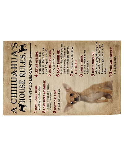 A Chihuahua's House Rules Rug