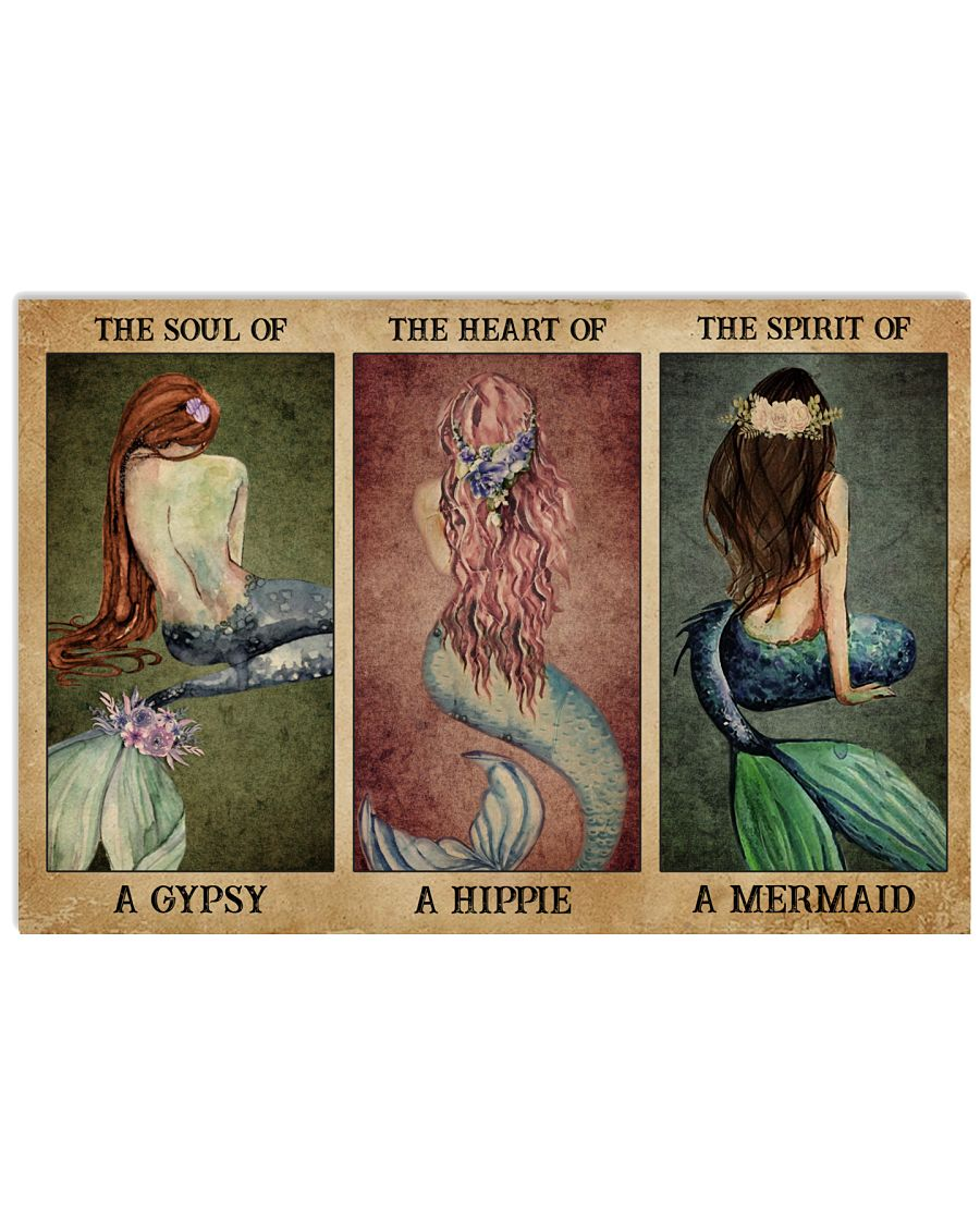 The Spirit Of A Mermaid 24x16 Poster