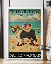 Beach Life Sandy Toes Old English Sheepdog 11x17 Poster lifestyle-poster-4