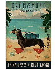 Vintage Diving Club Dachshund 16x24 Poster front