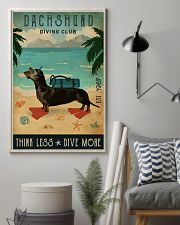 Vintage Diving Club Dachshund 16x24 Poster lifestyle-poster-1