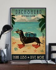 Vintage Diving Club Dachshund 16x24 Poster lifestyle-poster-2