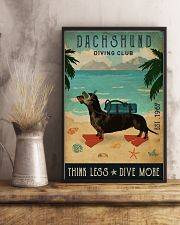 Vintage Diving Club Dachshund 16x24 Poster lifestyle-poster-3