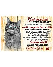 God One Said I Need Some One Maine Coon 17x11 Poster front
