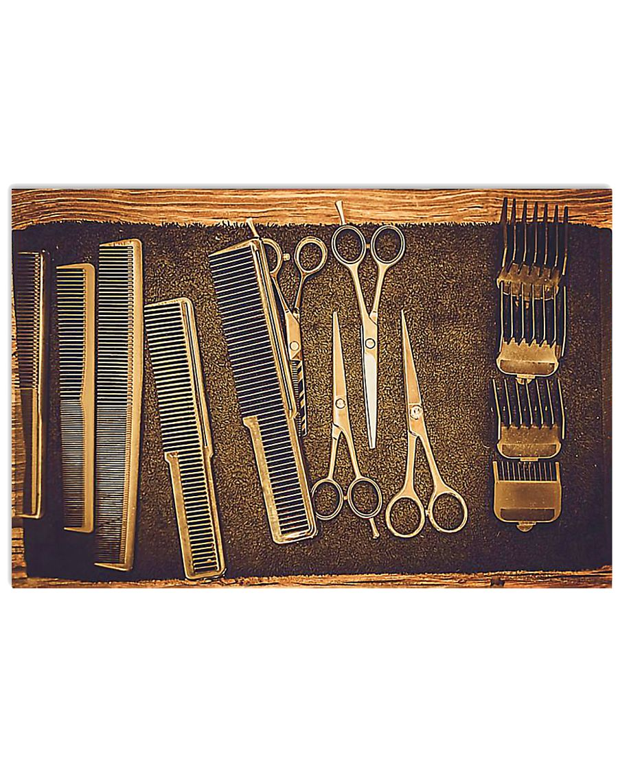 Hairstylist Vintage Tools 17x11 Poster