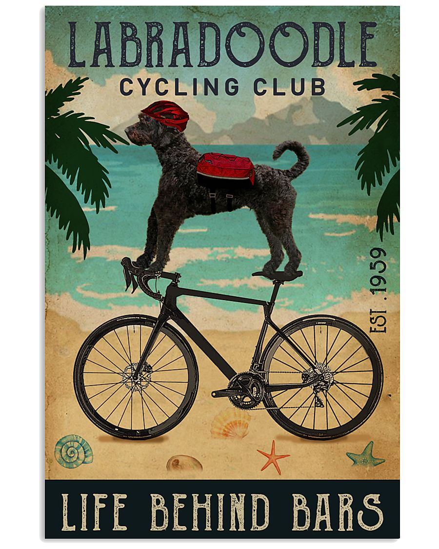 Cycling Club Labradoodle 11x17 Poster