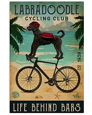 Cycling Club Labradoodle 11x17 Poster front