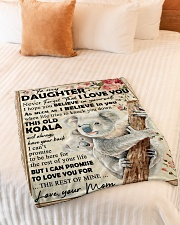 """Koala Mom To Daughter Never Forget Small Fleece Blanket - 30"""" x 40"""" aos-coral-fleece-blanket-30x40-lifestyle-front-01"""