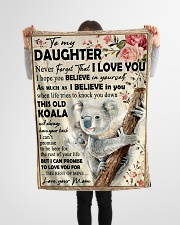 """Koala Mom To Daughter Never Forget Small Fleece Blanket - 30"""" x 40"""" aos-coral-fleece-blanket-30x40-lifestyle-front-14"""