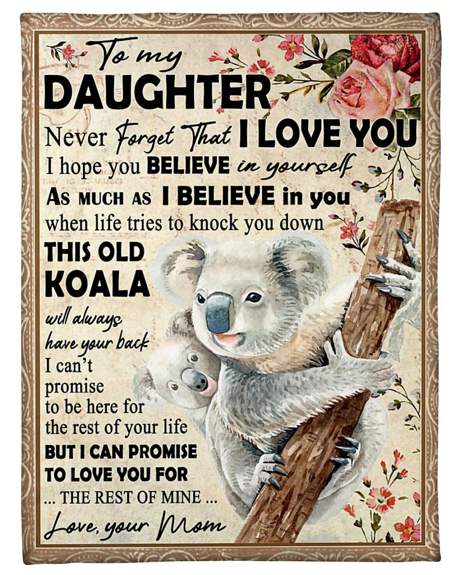 "Koala Mom To Daughter Never Forget Small Fleece Blanket - 30"" x 40"""